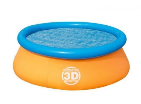PISCINA OVALADA 3D CON BORDE INFLABLE 1.610 LITROS 57244B
