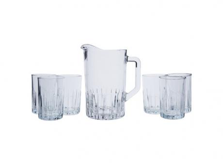 JGO DE JARRA 7 PZAS GLASSES
