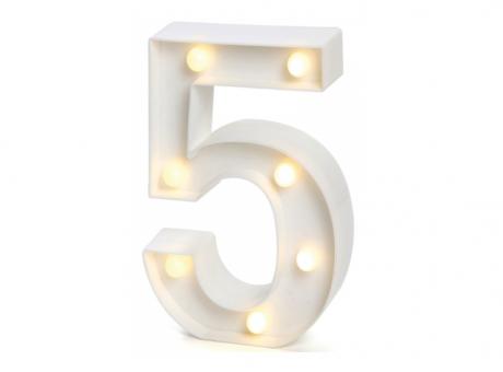 """NUMERO LED """"5"""""""