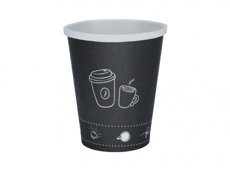 VASO DE PAPEL P1 CAFÉ NEGRO 180 ML C25
