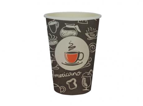 VASO DE PAPEL P1 CAFÉ NEGRO ARTE 240 ML C25