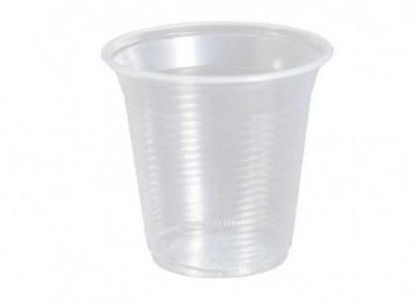 VASO PLAST. COPOBRAS 150 ML C/100 TRANS/ AZ