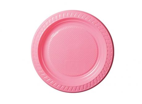 PLATO PLAST. COPOBRAS C/ 10 UN PS-15 CM ROSA