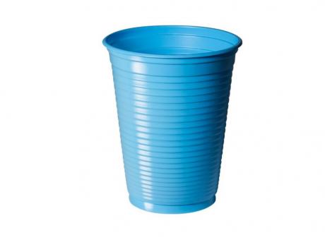 VASO PLAST. COPOBRAS 200 ML C/ 50 AZUL CLARO