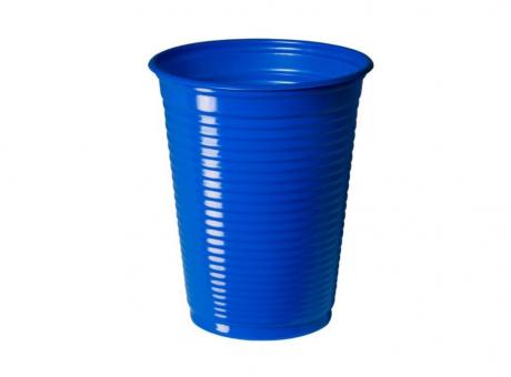 VASO PLAST. COPOBRAS 200 ML C/ 50 AZUL OSCURO