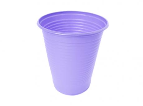 VASO PLAST. COPOBRAS 200 ML C/ 50 LILA