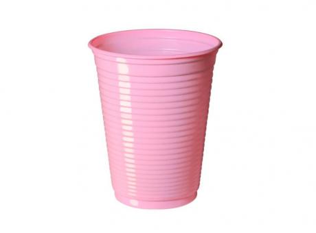 VASO PLAST. COPOBRAS 200 ML C/ 50 ROSA BEBE