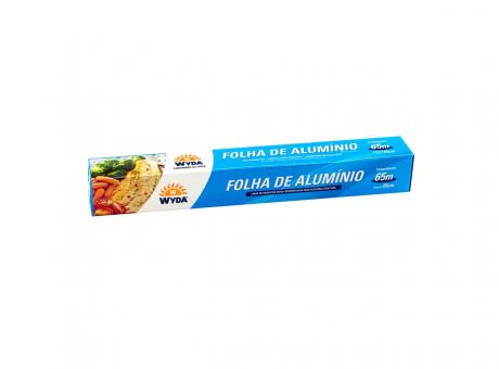 PAPEL ALUMINIO WYDA C/ CARTUCHO 65MTSX45CM R45X65