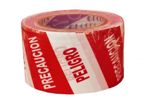 CINTA PRECAUCION PELIGRO  72X100 BL/RO POLOS