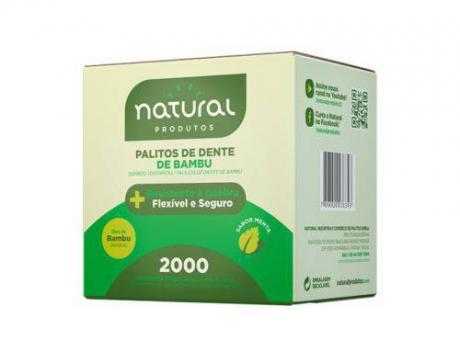 PALITO DE DIENTE BAMBU SACHE NATURAL C2000 - NATURAL