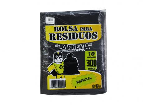 LPR BOLSA BASURA 300 LTS. ESPECIAL NEGRA 60MIC