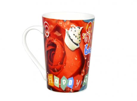 TAZA PARA CAFÉ A HAPPY BIRTHDAY