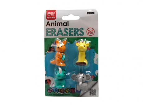 BORRADOR ANIMALES 4P COLOR